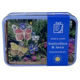 Gift In A Tin Butterflies & Bees Suncatcher Kit