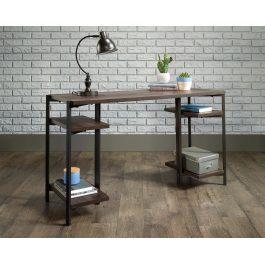 Teknik Chunky Industrial Bench Desk Smoked Oak