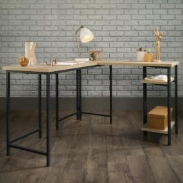 Teknik Industrial Style L-Shaped Desk Charter Oak
