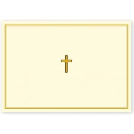 Peter Pauper Press Note Cards Gold Cross