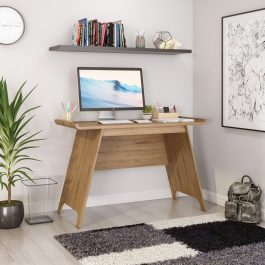 Teknik Towson Trestle Desk Beaufort Oak