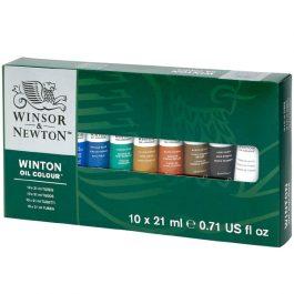 Winsor & Newton Winton Oil Colour Set 10 x 21 ml Tubes