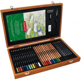 Derwent Academy Pencils Wooden Box Set 30 Pencils