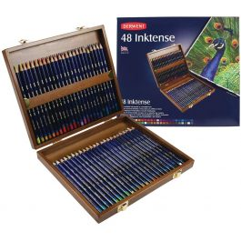 Derwent Inktense Pencils Wooden Box Set 48 Pencils