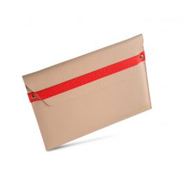Printworks Laptop Envelope Case Beige/Red 13 inch