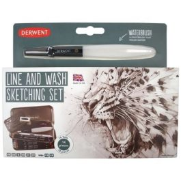 Derwent Sketching Line & Wash Set