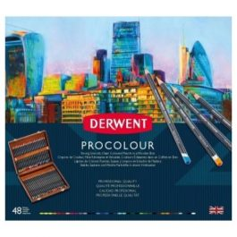 Derwent Procolour Wooden Box Set 48 Pencils