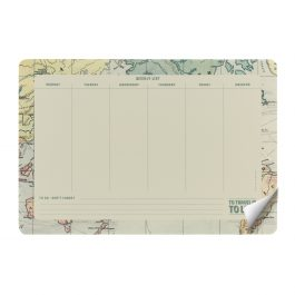 Legami Smart Notes – Paper Mousepad & Notepad – Map