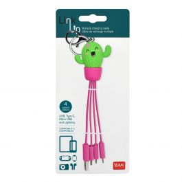 Legami Multiple Charging Cable – Cactus