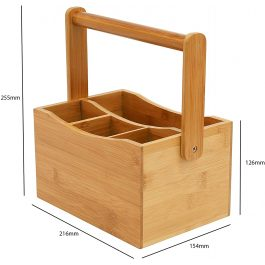 Osco Bamboo Mobile Caddy with Handle