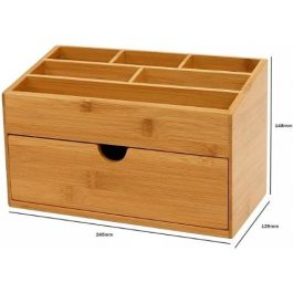 Osco Bamboo Desk Tidy with Drawer