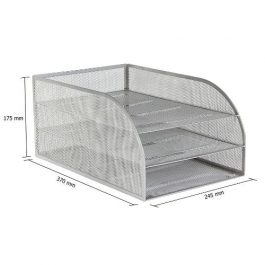 Osco Mesh 3-Tier Fixed Letter Trays