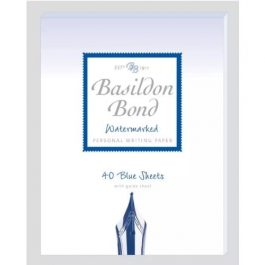 Basildon Bond Small Blue Pad (178 x 138 mm) 40 Sheets