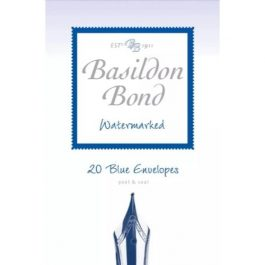 Basildon Bond Small Blue Envelopes (143 x 95 mm) Pk 20