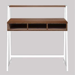 The Vienna Desk Walnut Finish With White Frame