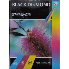 Black Diamond 130 x 180 mm Gloss 200 gsm Pk 100
