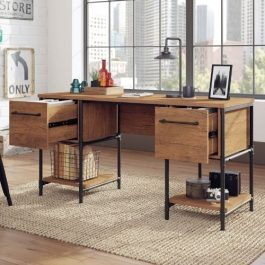 Teknik Iron Foundry Double Pedestal Desk
