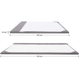 Osco Faux Leather A3 Desk Mat Grey