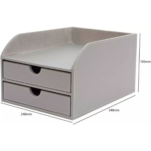 NEXT WORKING DAY COURIER OSCO FAUX LEATHER 3 DRAWER SORTER NEW