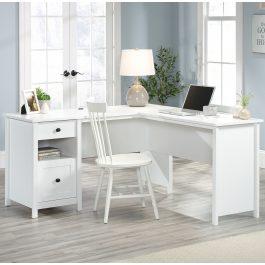 Teknik White Home Study L-Shaped Desk