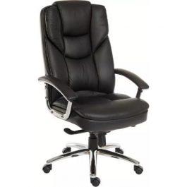 Teknik Skyline Black Leather Faced Executive Chair
