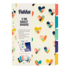 Pukka A4 Fashion Reversible 5-Part Dividers