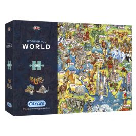 Gibsons Jigsaw Wonderful World 1000 Piece Puzzle