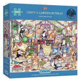 Gibsons Jigsaw Gerty's Garden Retreat 1000 Piece Puzzle