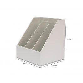 Osco Faux Leather Triple Magazine Rack White