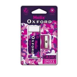 Helix Oxford Camo Eraser & Sharpener Pink