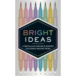 Bright Ideas Pack of Brush Pens Metallic Colours Pk 8