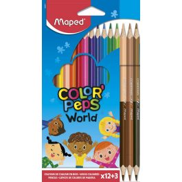 Maped Color Peps Duo Skin Tone Colouring Pencils Pk 15