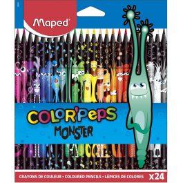 Maped Color Peps Monster Colouring Pencils & Felt Tips Pk 27