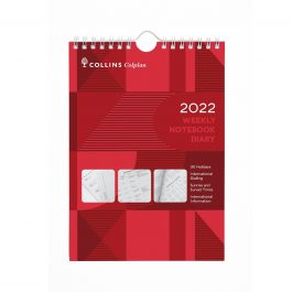 Collins 2022 Colplan Weekly Notebook A5 Diary/Calendar Red