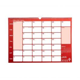 Collins 2022 Colplan A3 Memo Calendar Red