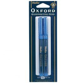 Helix Oxford School Handwriting Pens Blue Pk 2