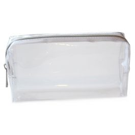 Clear Pencil Case With Silver Zip