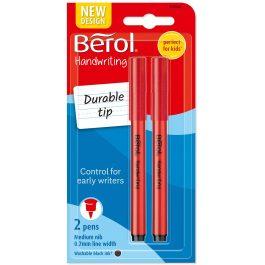 Berol Handwriting Pen Black Medium Pk 2