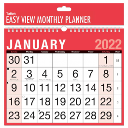 Tallon Easy View Monthly Calendar 2022