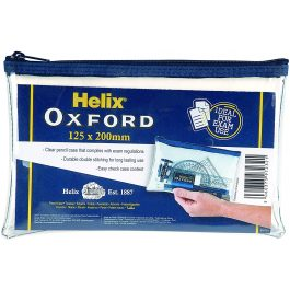 Helix Oxford Clear Pencil Case 8″ x 5″