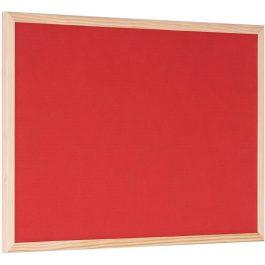 Bisilque Red Felt/Cork Reversible Board Pine-framed