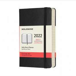 Moleskine 2022 Daily 12 Month Pocket Diary Black Hard Cover