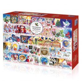 Gibsons Jigsaw Christmas Alphabet 1000 Piece Puzzle