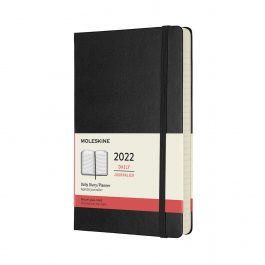 Moleskine 2022 Daily 12 Month Large Diary Black Hard Cover