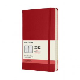 Moleskine 2022 Daily 12 Month Large Diary Scarlet Red Hard Cover