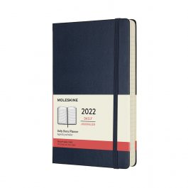 Moleskine 2022 Daily 12 Month Large Diary Sapphire Blue Hard Cover