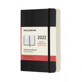 Moleskine 2022 Daily 12 Month Pocket Diary Black Soft Cover