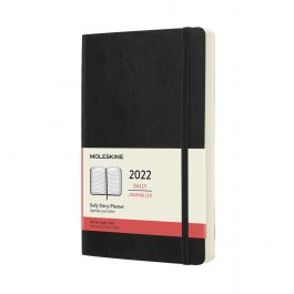 Moleskine 2022 Daily 12 Month Large Diary Black Soft Cover