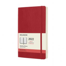 Moleskine 2022 Daily 12 Month Large Diary Scarlet Red Soft Cover