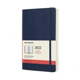 Moleskine 2022 Daily 12 Month Large Diary Sapphire Blue Soft Cover
